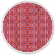 Round Beach Towel featuring the painting Pearls by Kym Nicolas