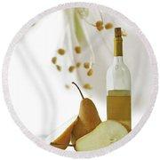 Pears Blossom Round Beach Towel