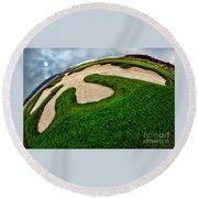 Pebble Beach Golf Cource Round Beach Towel