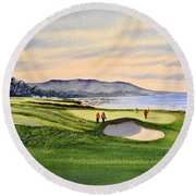 Pebble Beach Golf Course Round Beach Towel
