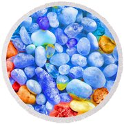 Pebble Delight Round Beach Towel by Andreas Thust