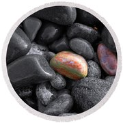 Pebble Jewels   Round Beach Towel