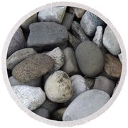 Round Beach Towel featuring the photograph Pebbles 1 by Don Koester