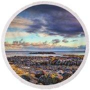 Pebbles And Sky  #h4 Round Beach Towel