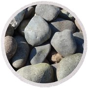 Pebbles Round Beach Towel