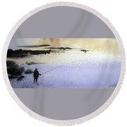 Peche Round Beach Towel by Ed Heaton