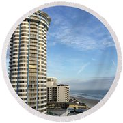 Peck Plaza Round Beach Towel