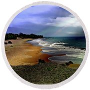 Pedasi Beach, In The Dry Arc Of Panama Round Beach Towel