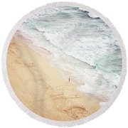 Round Beach Towel featuring the photograph Pedn Vounder by Lyn Randle