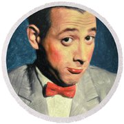 Pee-wee Herman Round Beach Towel