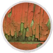 Round Beach Towel featuring the photograph Peeling 4 by Mike Eingle