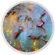 Peeling Paint And Rust Textures 135 Round Beach Towel