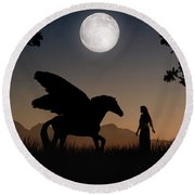 Pegasus Round Beach Towel