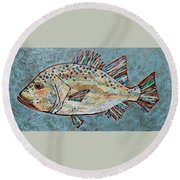 Peggy The Perch Round Beach Towel