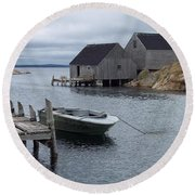 Round Beach Towel featuring the photograph Peggys Cove Canada by Richard Bryce and Family