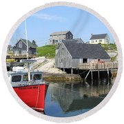 Peggy's Cove, Nova Scotia Round Beach Towel