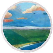 Peggy's Road Round Beach Towel