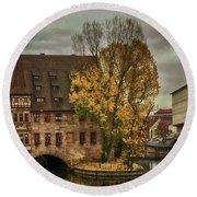 Pegnitz, Nuremberg, Germany Round Beach Towel