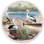 Pelican Cove Round Beach Towel