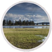 Pelican Creek Round Beach Towel