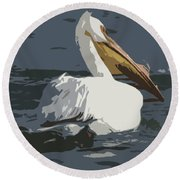 Pelican Cut Out Round Beach Towel