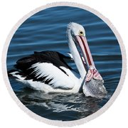 Pelican Fishing 6661 Round Beach Towel by Kevin Chippindall
