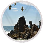 Pelican Inspiration Round Beach Towel