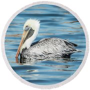 Pelican Relaxing Round Beach Towel