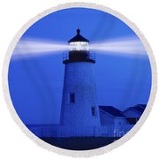 Pemaquid Lighthouse Round Beach Towel
