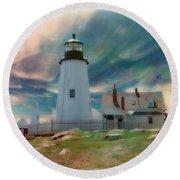 Pemaquid Lighthouse,maine Round Beach Towel