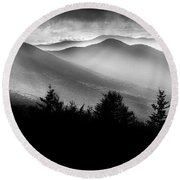 Pemigewasset Wilderness Round Beach Towel
