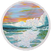The Last Iceberg Round Beach Towel