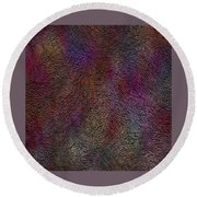 Round Beach Towel featuring the painting Penman Original-561 by Andrew Penman