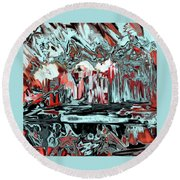 Round Beach Towel featuring the painting Penman Original-565 by Andrew Penman