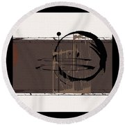 Round Beach Towel featuring the painting Penman Original-577 by Andrew Penman