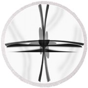 Round Beach Towel featuring the painting Penman Original-689 by Andrew Penman
