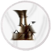 Round Beach Towel featuring the painting Penman Original-725 by Andrew Penman