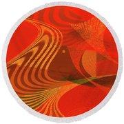 Round Beach Towel featuring the digital art Penman Original-734 by Andrew Penman