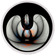 Round Beach Towel featuring the painting Penman Original-744 by Andrew Penman
