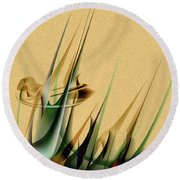 Round Beach Towel featuring the painting Penmanoriginal-559 by Andrew Penman