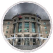 Pennsylvania Judicial Center Round Beach Towel by Shelley Neff