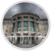 Pennsylvania Judicial Center Round Beach Towel