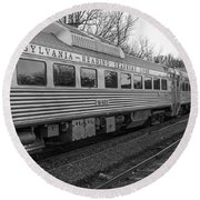 Pennsylvania Reading Seashore Lines Train Round Beach Towel