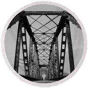 Pennsylvania Steel Co. Railroad Bridge Round Beach Towel