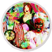 Round Beach Towel featuring the photograph Penny Arcade 20160223 V2 by Wingsdomain Art and Photography