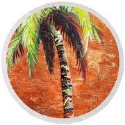 Penny Palm Round Beach Towel