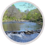 Round Beach Towel featuring the photograph Pennypack Creek - Philadelphia by Bill Cannon