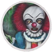 Pennywise Round Beach Towel by Abril Andrade Griffith