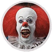 Pennywise The Clown Round Beach Towel