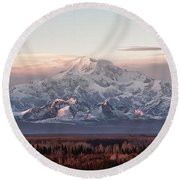 Pensive Round Beach Towel